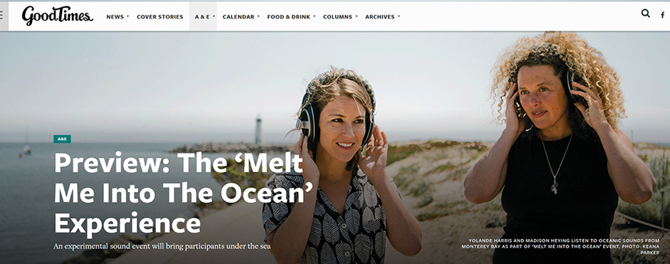 """The """"Melt Me Into The Ocean"""" Experience"""